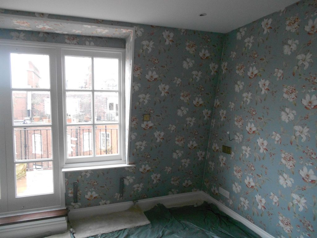 Fabric Walling in London townhouse.