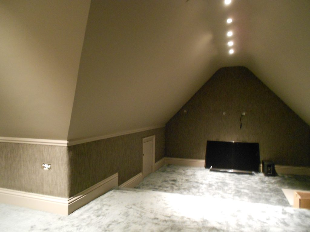 Cinema Room – fabric walling for private residence