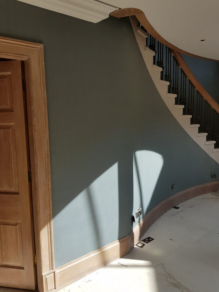 Berkshire Country House - fabric walling